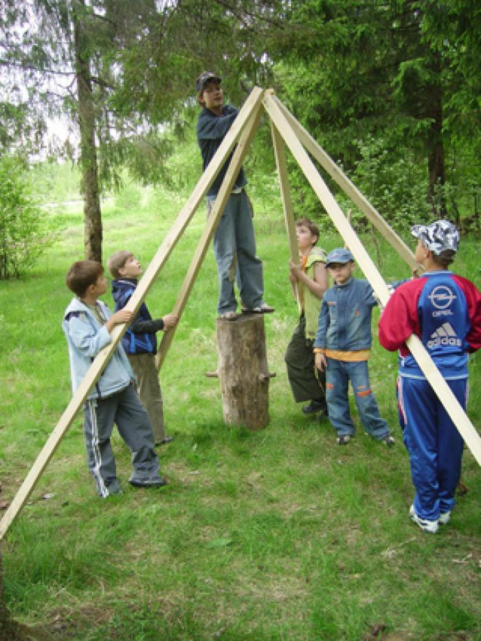 Мастер класс для детей в лагере